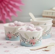 Picture of Floral Fancy - Ice Cream / Treat Tubs with Spoons