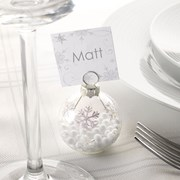 Picture of Shimmering Snowflake - Bauble Place Card Holders