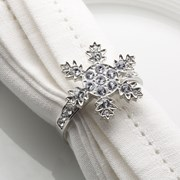 Picture of Shimmering Snowflake - Diamond Napkin Rings