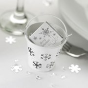Picture of Snowflake Pails - White