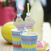 Picture of Easter Chick - Drinking Straws