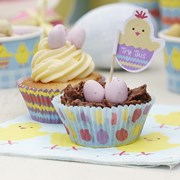 Picture of Easter Chick - Cupcake Cases & Picks