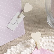 Picture of Vintage Rose - Ivory Wooden Heart Pegs