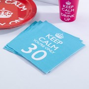 Picture of Keep Calm - Napkins You're Only 30