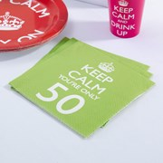 Picture of Keep Calm - Napkins You're Only 50
