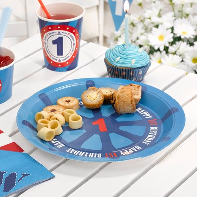 Picture of Ahoy There - 1st Birthday - Plates