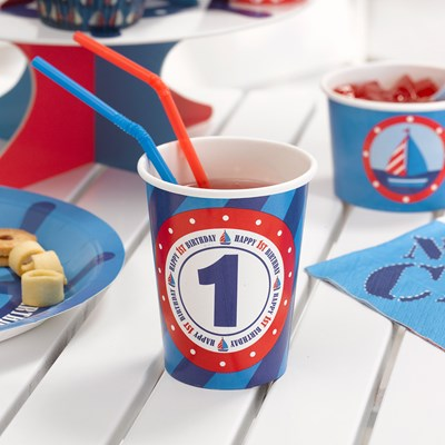 Picture of Ahoy There - 1st Birthday - Cups