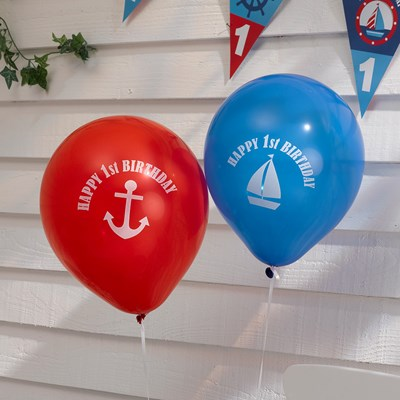 Picture of Ahoy There - 1st Birthday - Balloons