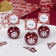 Picture of Merry Christmas - Bauble Place Card Holder