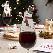 Picture of Let It Snow - Glass Decoration - Snowman