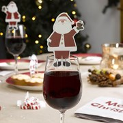 Picture of Let It Snow - Glass Decoration - Father Christmas