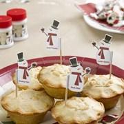 Picture of Let It Snow - Mince Pie Picks - Snowman
