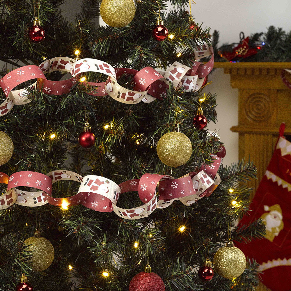 Let It Snow Paper Chains Father Christmas Let It Snow
