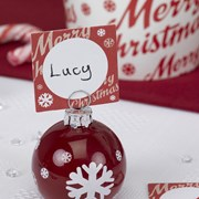 Picture of Merry Christmas - Placecard - Red