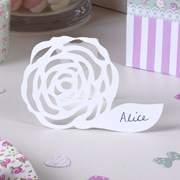 Picture of Frills & Spills - Place Card - White