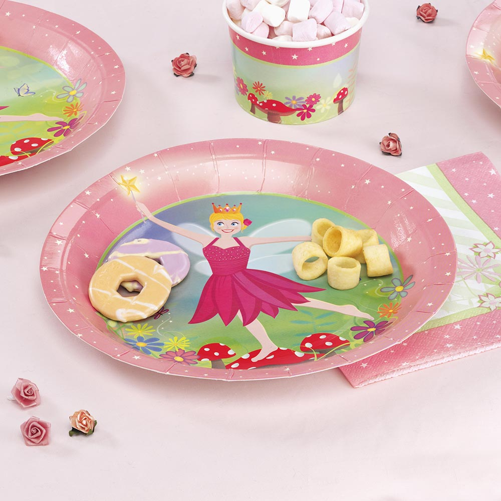 Picture of Fairy Princess - Paper Plates & Fairy Princess - Paper Plates - Fairy Party | PartyThisWay | Party ...