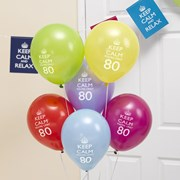Picture of Keep Calm - Balloons 80th