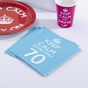 Picture of Keep Calm - Napkins You're Only 70
