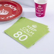 Picture of Keep Calm - Napkins You're Only 80