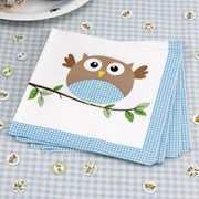 Picture of Little Owls - Napkins - Blue