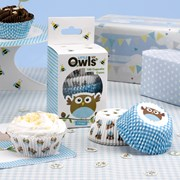 Picture of Little Owls - Cupcake Cases - Blue