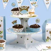 Picture of Little Owls - Cake Stand - Blue