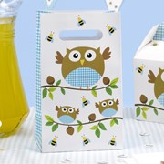 Picture of Little Owls - Party Bags - Blue