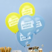 Picture of Little Owls - Birthday Wishes Balloons - Blue