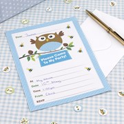 Picture of Little Owls - Invitations - Blue