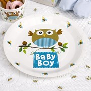 Picture of Little Owls - Baby Boy Plates