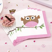 Picture of Little Owls - Napkins - Pink