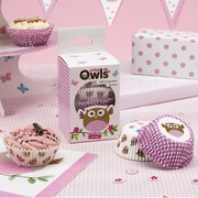 Picture of Little Owls - Cupcake Cases - Pink