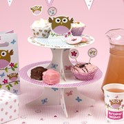 Picture of Little Owls - Cake Stand - Pink