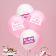 Picture of Little Owls - Birthday Wishes Balloons - Pink