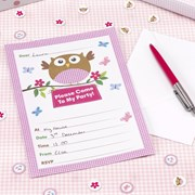 Picture of Little Owls - Invitations - Pink
