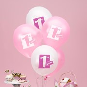 Picture of Little Owls - 1st Birthday Balloons - Pink