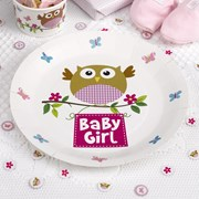 Picture of Little Owls - Baby Girl Plates