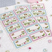 Picture of Little Owls - Name Stickers