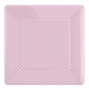 Picture of Paper Plates - Pink Polka Dot Square