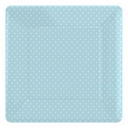 Picture of Paper Plates - Blue Polka Dot Square