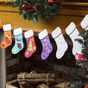 Picture of Christmas Craft - Colour-in Stocking Bunting