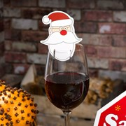Picture of Christmas Craft - Santa Glass Decorations