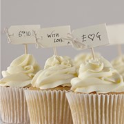 Picture of Vintage Affair - Cupcake Sticks - Ivory