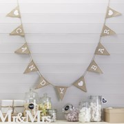 Picture of Vintage Affair - Hessian Bunting - Candy Bar