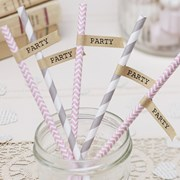 Picture of Vintage Affair - Brown Kraft Straw flags