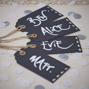 Picture of Vintage Affair - Chalkboard Luggage Tags