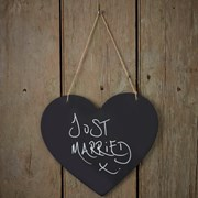 Picture of Vintage Affair - Chalkboard Wooden Sign - Heart
