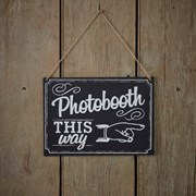 Picture of Vintage Affair - Chalkboard - Wooden Photo Booth Sign
