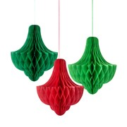 Picture of Botanical Christmas - Honeycomb Bauble Decorations