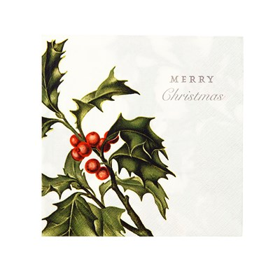 Picture of Botanical Christmas - Holly Napkin